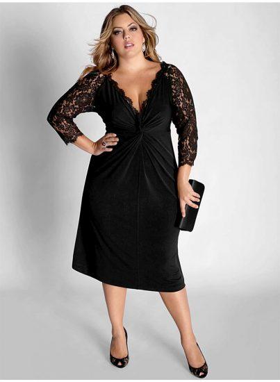 Девушка в чёрном вечернем платье