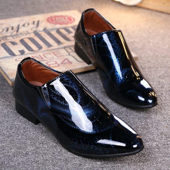 Мужские лакированные туфли