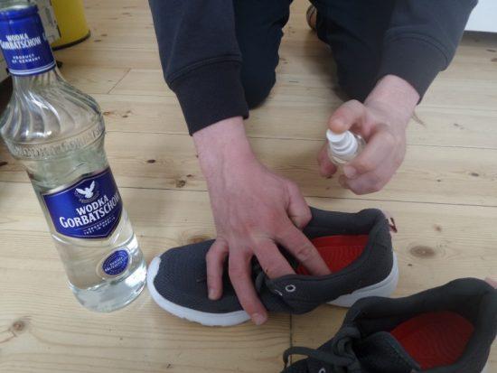 Водка в обувь