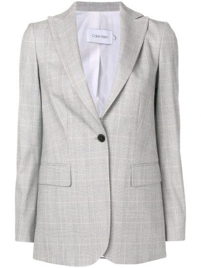 Светлый клетчатый пиджак