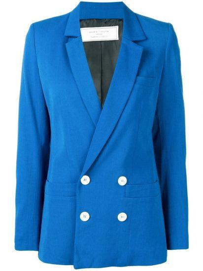 Ярко-синий пиджак