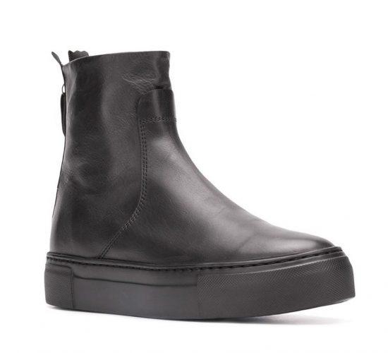 Ботинки из гладкой кожи