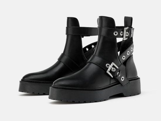 Необычные ботинки на грубой подошве