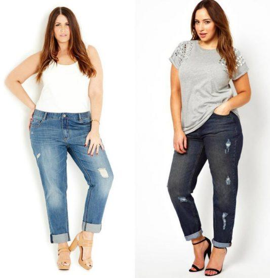 какие джинсы лучше носить полным девушкам