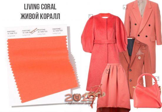 Одежда в цвете Живой коралл