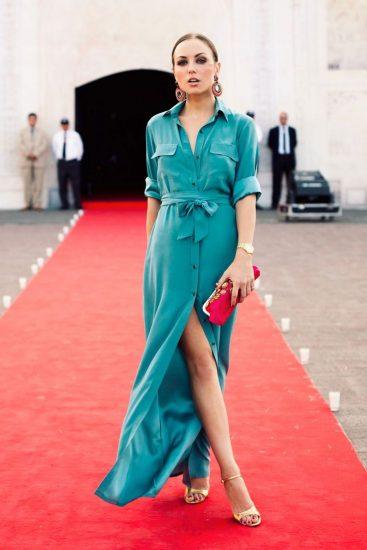 Элегантное платье-рубашка