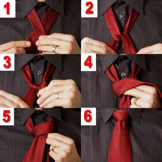 как красиво завязать галстук мужчине