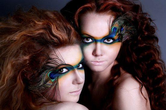 макияж в птичьем стиле
