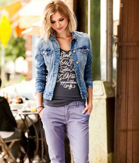Джинсовая куртка с брюками
