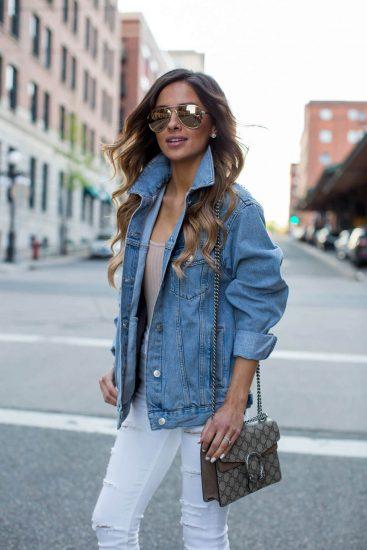 Стильный образ с джинсовой курткой