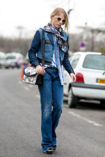 Модный образ с джинсовой одеждой