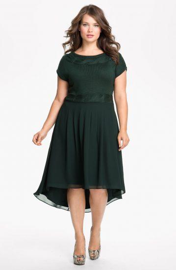 платья для полных девушек с большой грудью