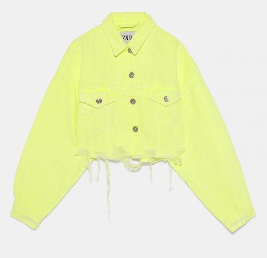 Джинсовая куртка неонового цвета