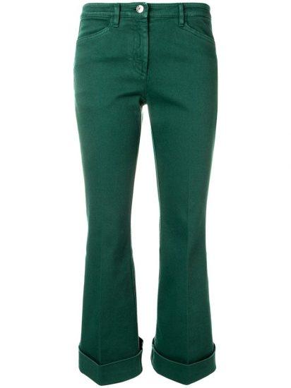Расклёшенные джинсы с подворотами