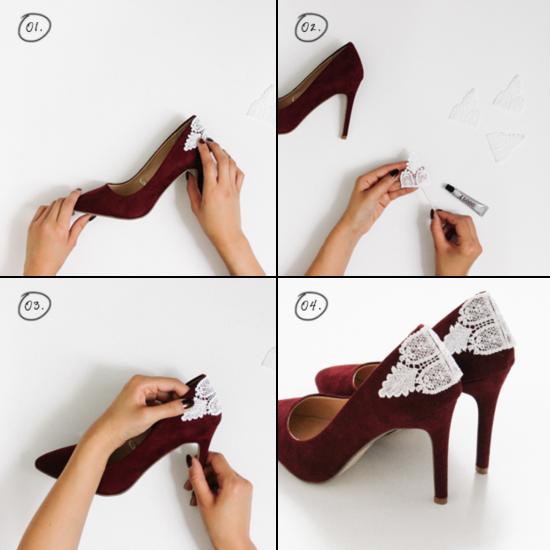 Обновление туфель декоративными элементами