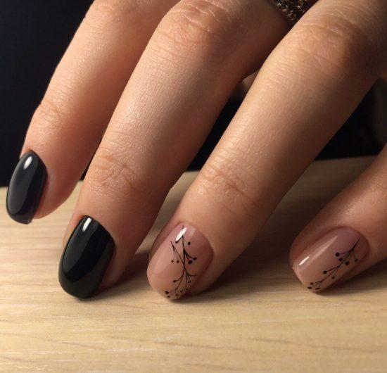 Сочетание пастельных оттенков с чёрным