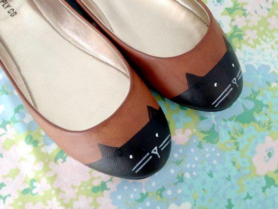 Обновление туфель с помощью рисунка