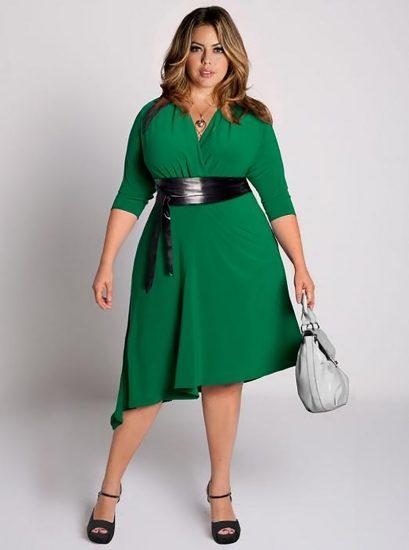 платья для полных девушек с широкими плечами