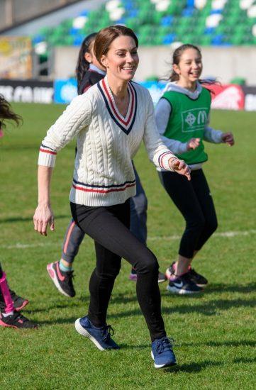 Кейт Миддлтон занимается спортом