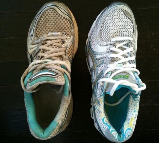 Испачканные кроссовки