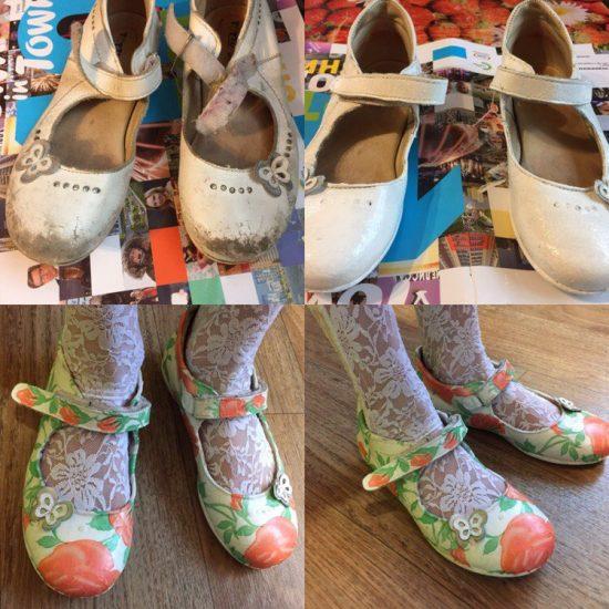 Обновление обуви с помощью рисунка