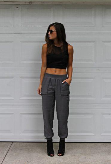 Образы с женскими брюками-джоггерами