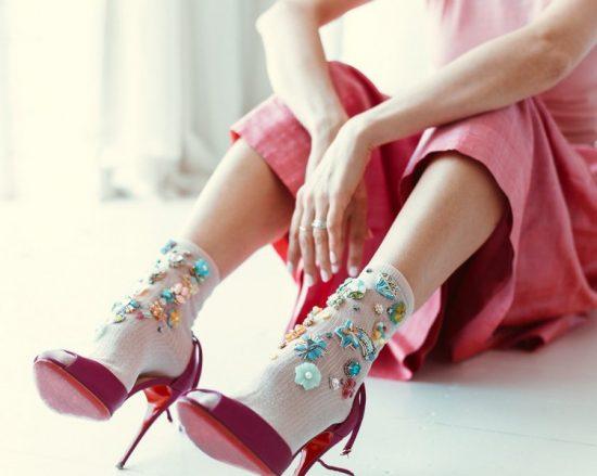Модные носки с объёмной аппликацией