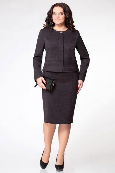 Чёрный деловой костюм для женщин