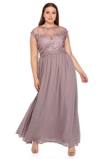 Платье с юбкой в пол