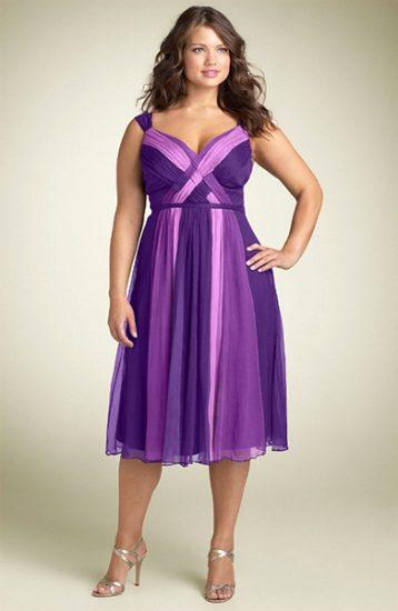Коктейльное платье для полных