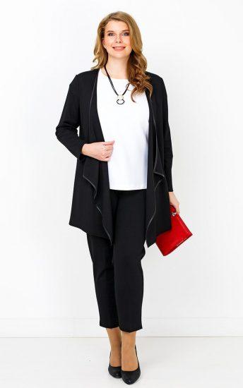 Образ с удлинённым жакетом и узкими брюками