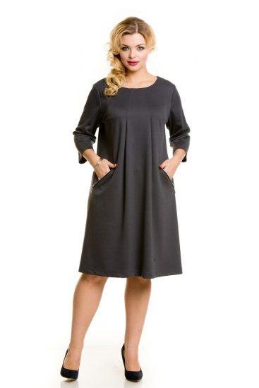 Платье с карманами для полных женщин