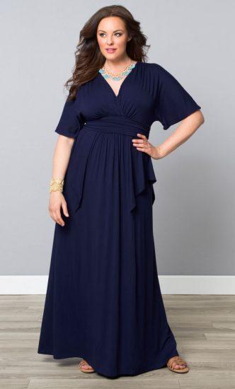 Платье в пол для полных девушек