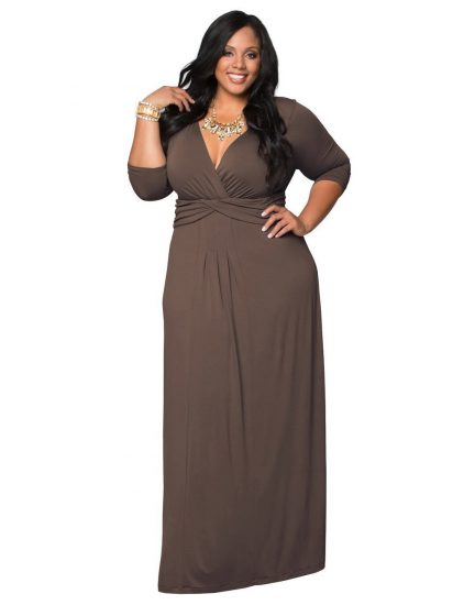 Динное платье для полных женщин