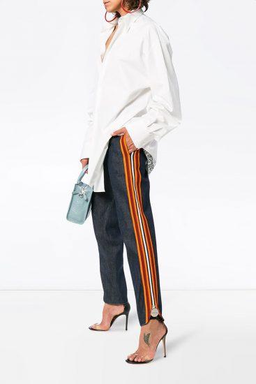 с чем носить джинсы с лампасами