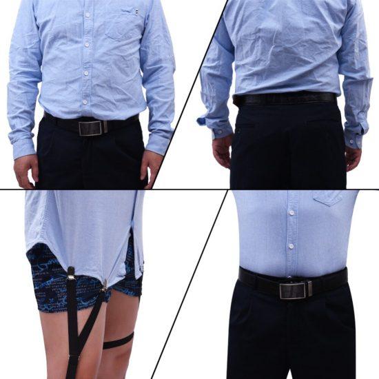 специальные подтяжки для того, чтобы рубашка не выбивалась из брюк