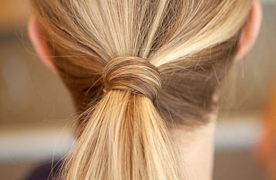 Прядь волос вместо резинки