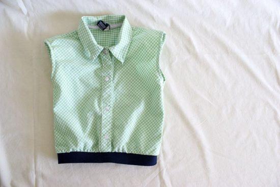 топ из старой мужской рубашки