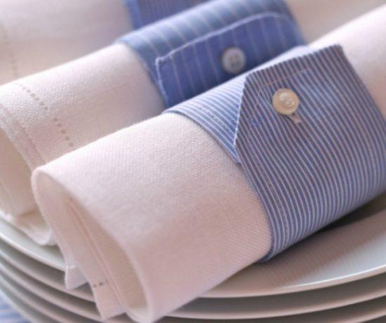 кольца для салфеток из старой мужской рубашки