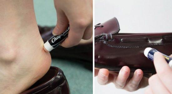 Гигиеническая помада от натирания обуви