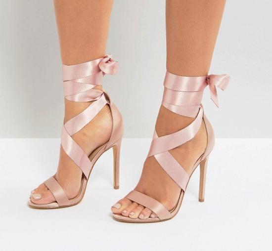 Туфли с лентами