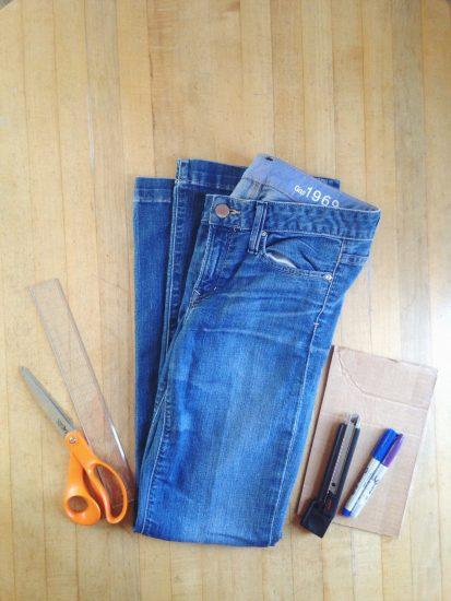 как заузить джинсы снизу без швейной машинки