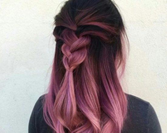 Нежно-розовое омбре
