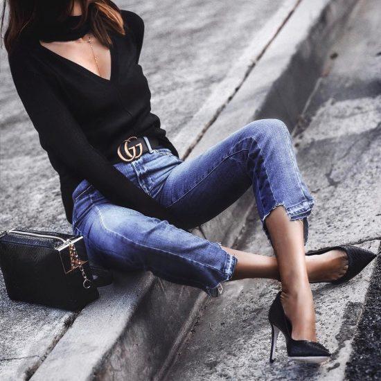 как подобрать цвет ремня к джинсам