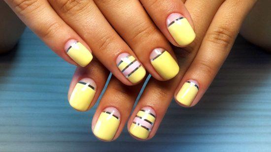 идеи дизайна ногтей с полосками