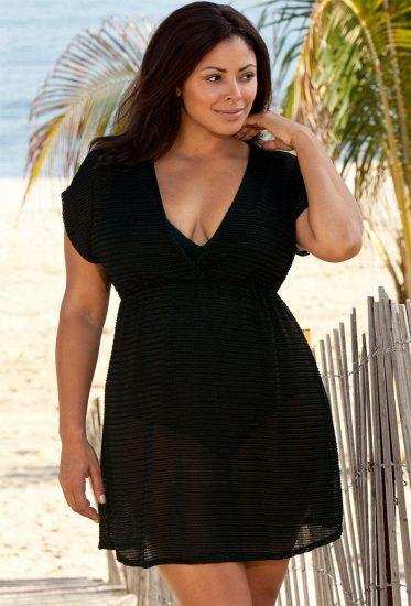 пляжная мода для полных девушек