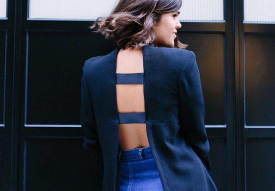 Жакет со открытой спиной из пиджака