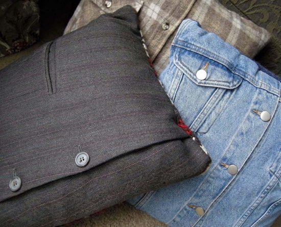 Подушки из пиджаков