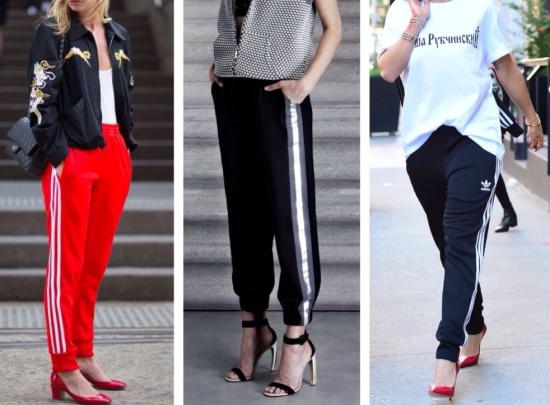 Стильные образы с брюками с лампасами