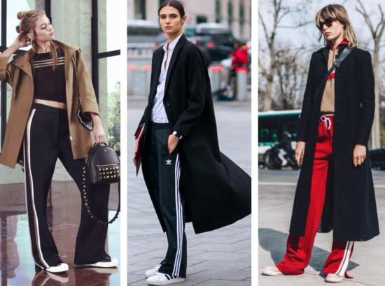 шлнСтильные образы с брюками с лампасами